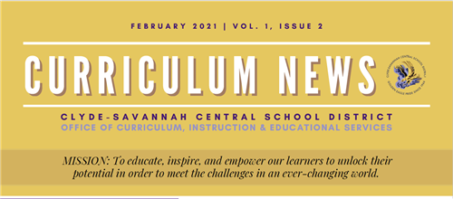 Curriculum News