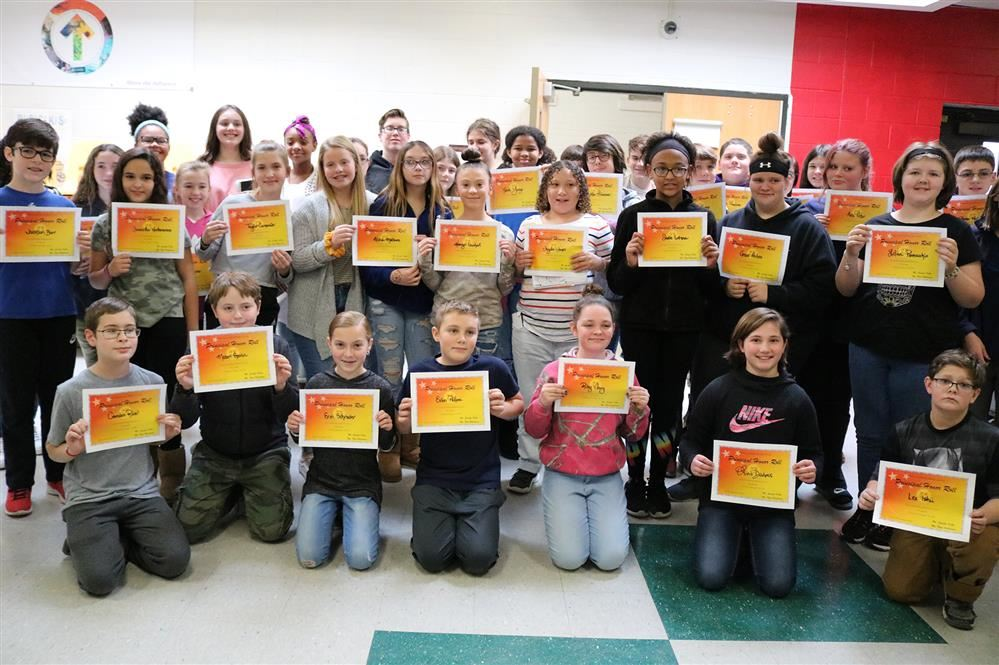 Students received certificates of recognition and were treated to a yogurt parfait party.
