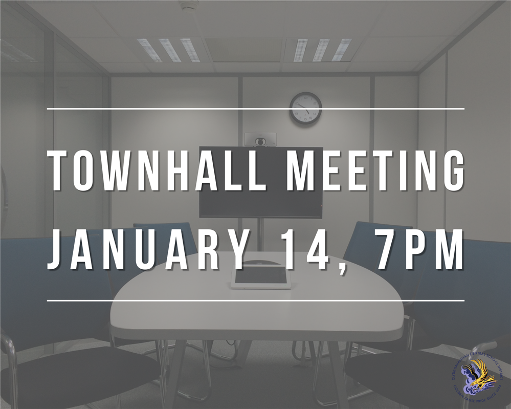 Reminder: Town Hall Meeting & Return to In Person Learning